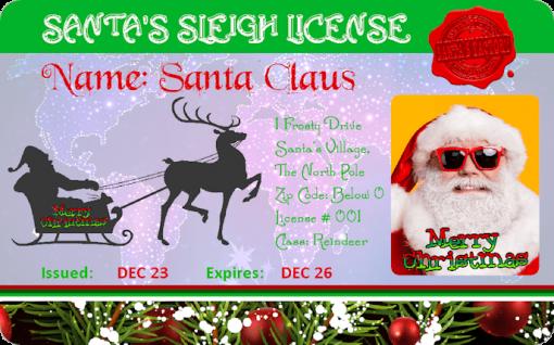 Santas_Novelty_Sleigh_License