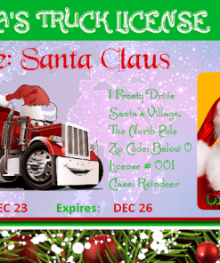 Santas_Truck_Novelty_License