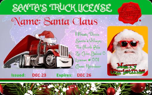 Santas_Truck_Novelty_License