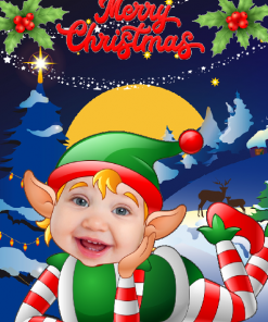 novelty_elf_child_laying_card