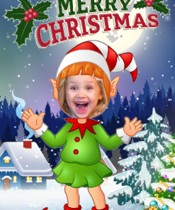 novelty_elf_girl_happy_xmas_card